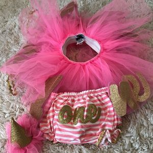 Little girl 1st birthday outfit size 12m